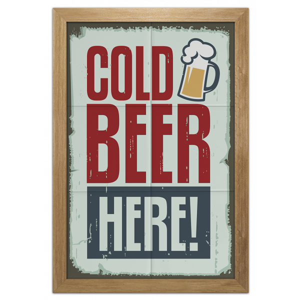 Quadro Cold Beer Here