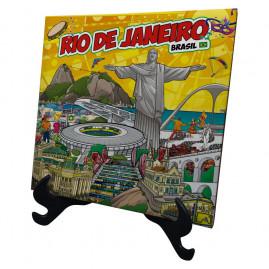 Azulejo com suporte colorido RJ