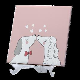 Azulejo beijo cachorros
