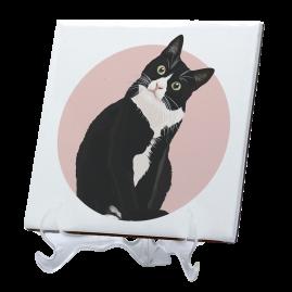 Azulejo gato preto