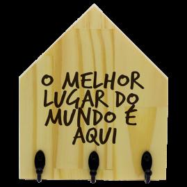 Quadro de Madeira com ganchos Lugar do Mundo