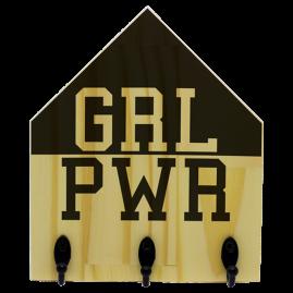 Quadro de Madeira com ganchos GRL PWR