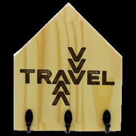 Quadro de Madeira com ganchos Travel