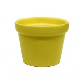 Vaso pequeno amarelo